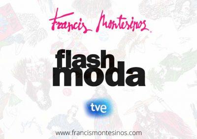 Reportaje Flash Moda en RTVE, 2017. En el minuto 12:11