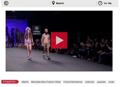 Publicación en el ATLAS NEWS. Madrid Fashion Week, 2017