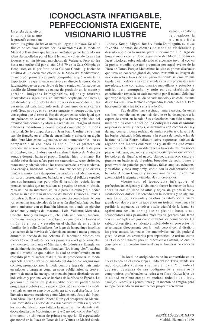 Publicación de Renée López de Haro. Madrid, 1996