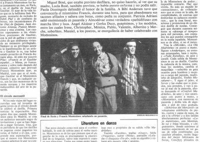 Bombazo Montesinos en Madrid, 1985