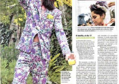 Publicación en el periódico La Nueva España. Asturias, 2017