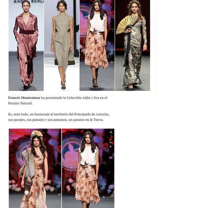 Publicación en la revista digital MODALIA. Madrid Fashion Week, 2017