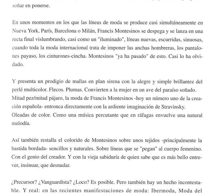 Pilar Díaz de Quijano. Centro Moda nº22, 1979