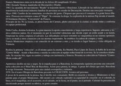 Primer curriculum de Francis Montesinos, 1979