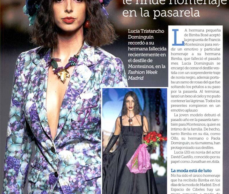 Publicación en la revista SEMANA. Madrid Fashion Week, 2017