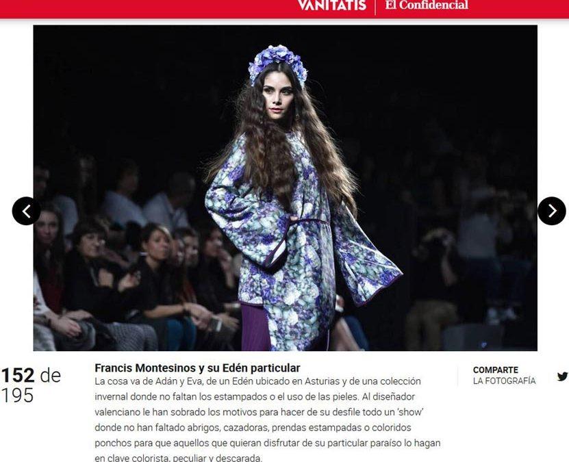 Publicación en el diario digital VANITATIS. Madrid Fashion Week, 2017