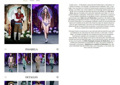 Publicación en la revista VOGUE ESPAÑA. Madrid Fashion Week, 2017