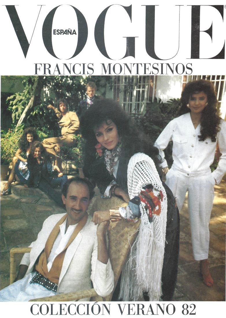 Portada interior de la revista Vogue, 1982