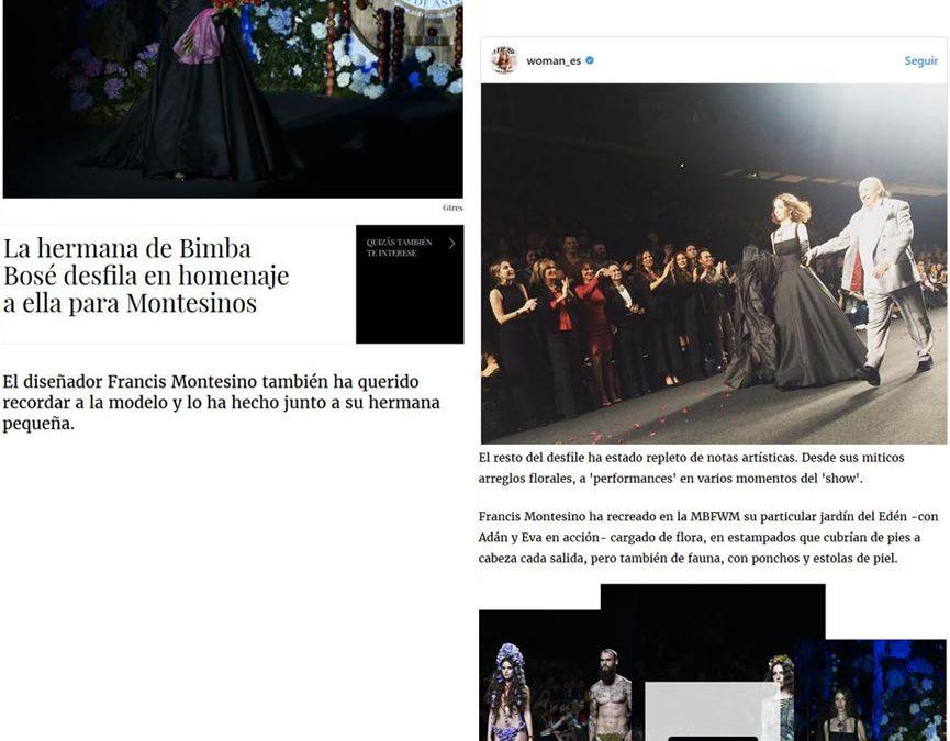 Publicación en la revista digital WOMAN. Madrid Fashion Week, 2017