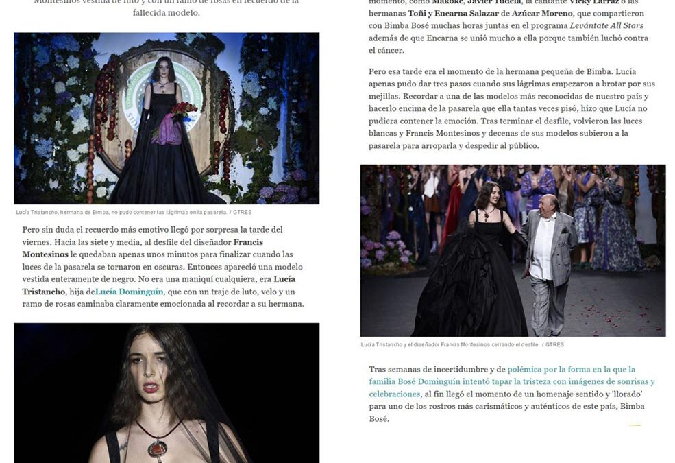Publicación en el periódico EL ESPAÑOL. Madrid Fashion Week, 2017