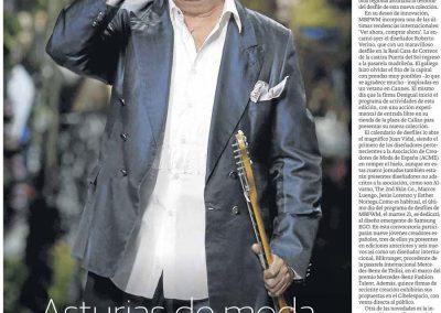 Publicación en el periódico EL COMERCIO. Madrid Fashion Week, 2017