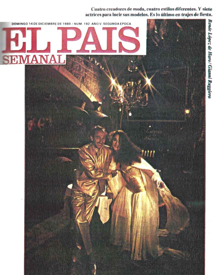 Portada El Pais Semanal, 1980