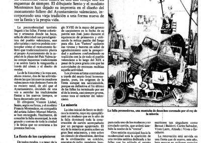 Publicación en La Vanguardia, Las Fallas 1986