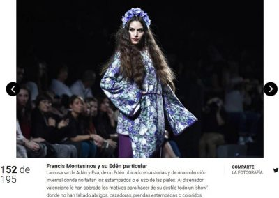 Publicación en el diario digital VANITATIS. Madrid Fashion Week, 2017